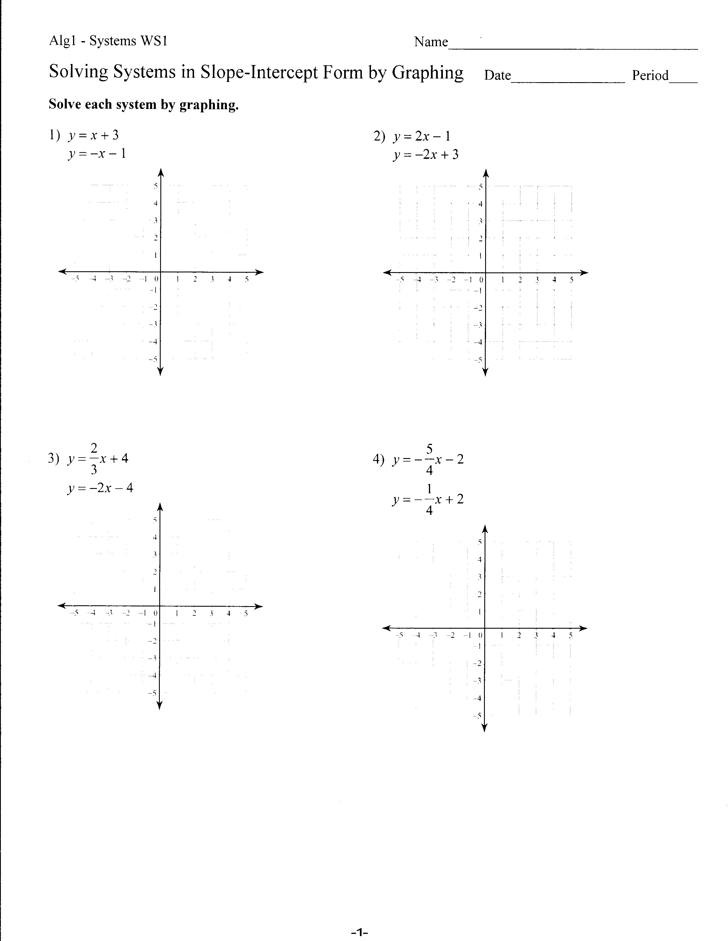 Worksheets Y Mx B Worksheet y mx b worksheets holt algebra 6 2a solving systems by graphing r squared lines with b