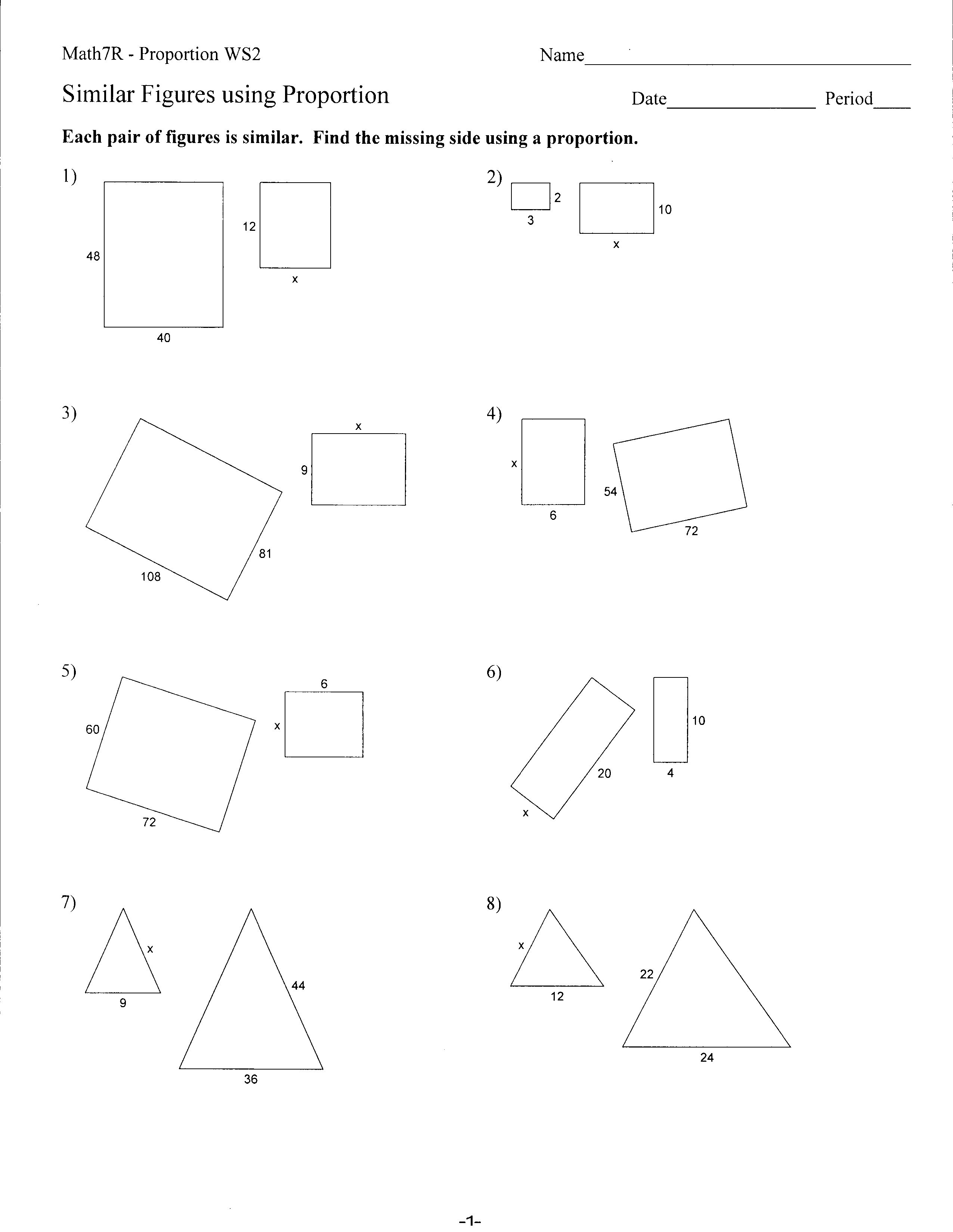 worksheet Congruent Polygons Worksheet congruent polygons worksheet abitlikethis similar figures proportions worksheet